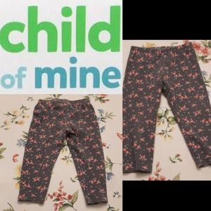 size 12 months Baby girls floral leggings